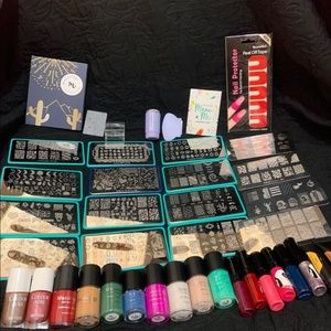Huge 86 pc Lot of Nail Stamping Essentials